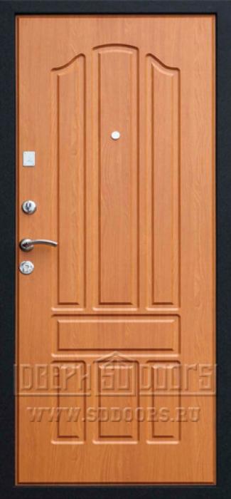 входная дверь металлическая черная внутренняя отделка