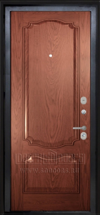 железная дверь шпон дерево
