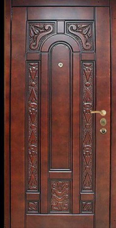 стальные входные двери дерево