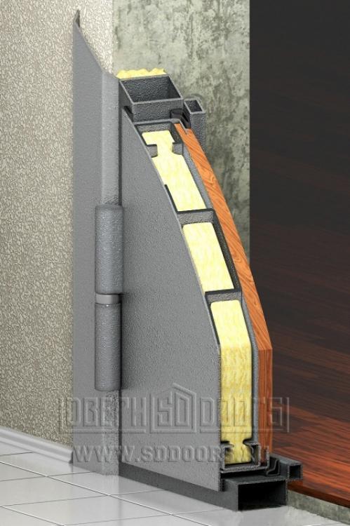 Входная дверь разрез внутри
